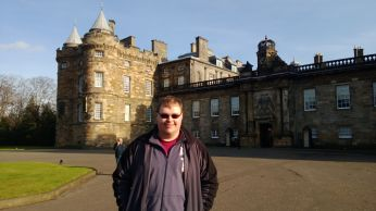 Cameron at Holyrood Palace